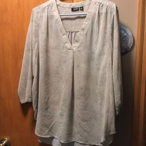 Women's  a.n.a. Sheer Blouse. Size 1X